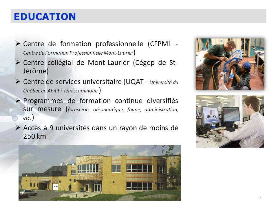 EDUCATIONCentre de formation professionnelle (CFPML - Centre de Formation Professionnelle Mont-Laurier)