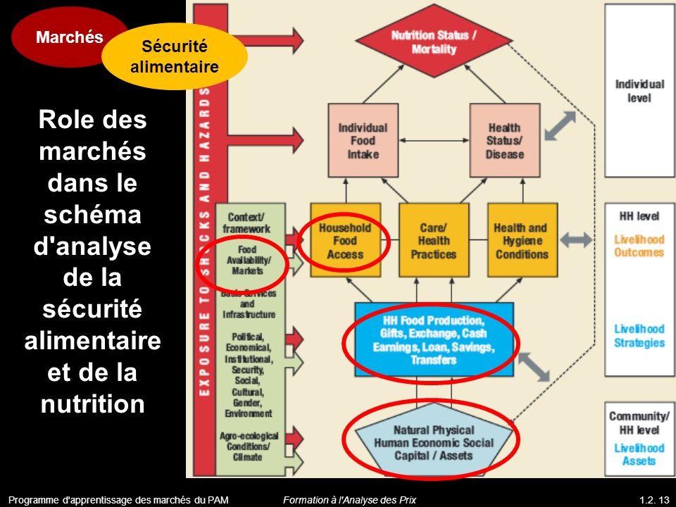 Marchés Sécurité alimentaire. Role des marchés dans le schéma d analyse de la sécurité alimentaire et de la nutrition.