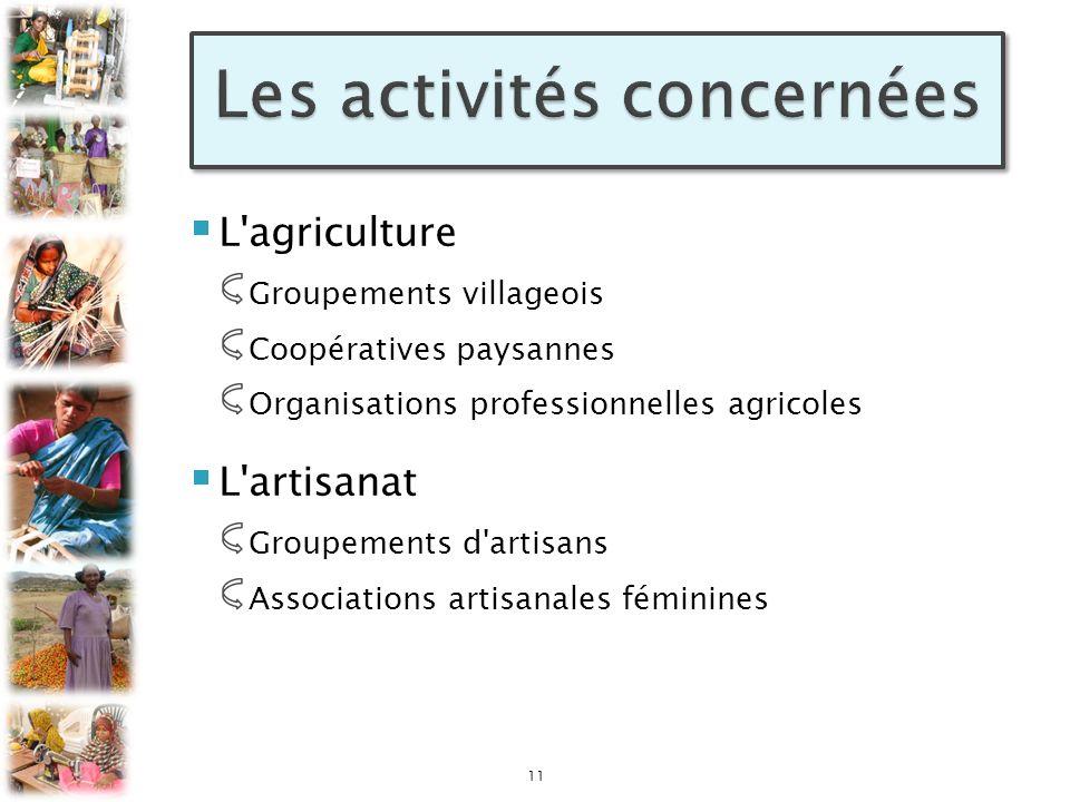 Les activités concernées