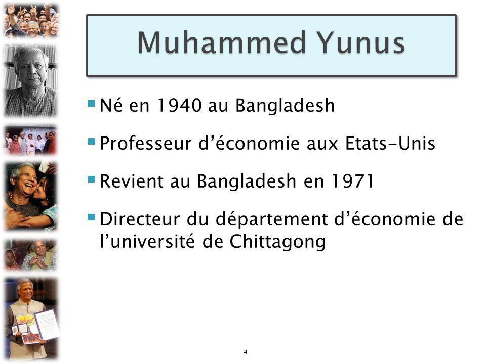 Muhammed Yunus Né en 1940 au Bangladesh