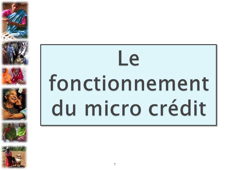 Le fonctionnement du micro crédit