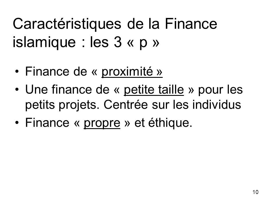 Caractéristiques de la Finance islamique : les 3 « p »