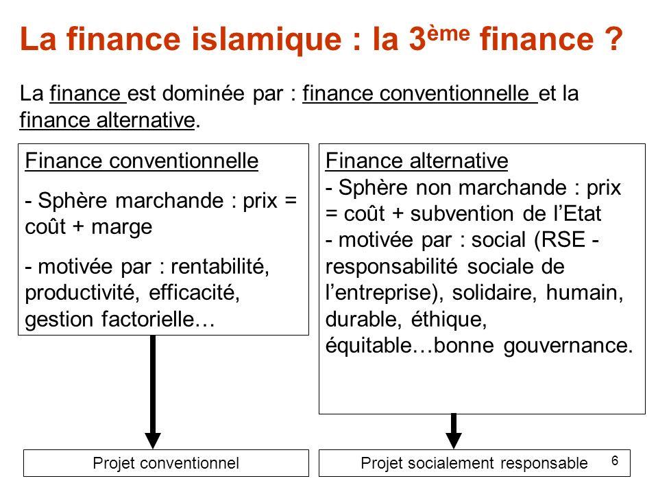 La finance islamique : la 3ème finance