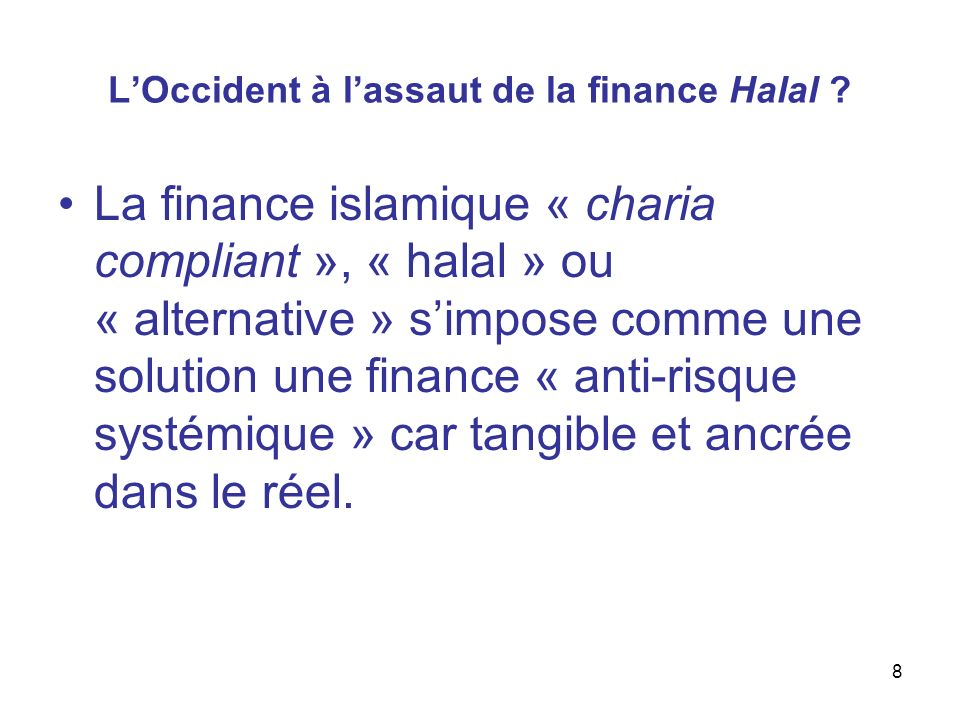 L'Occident à l'assaut de la finance Halal