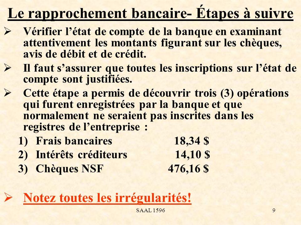 Le rapprochement bancaire- Étapes à suivre