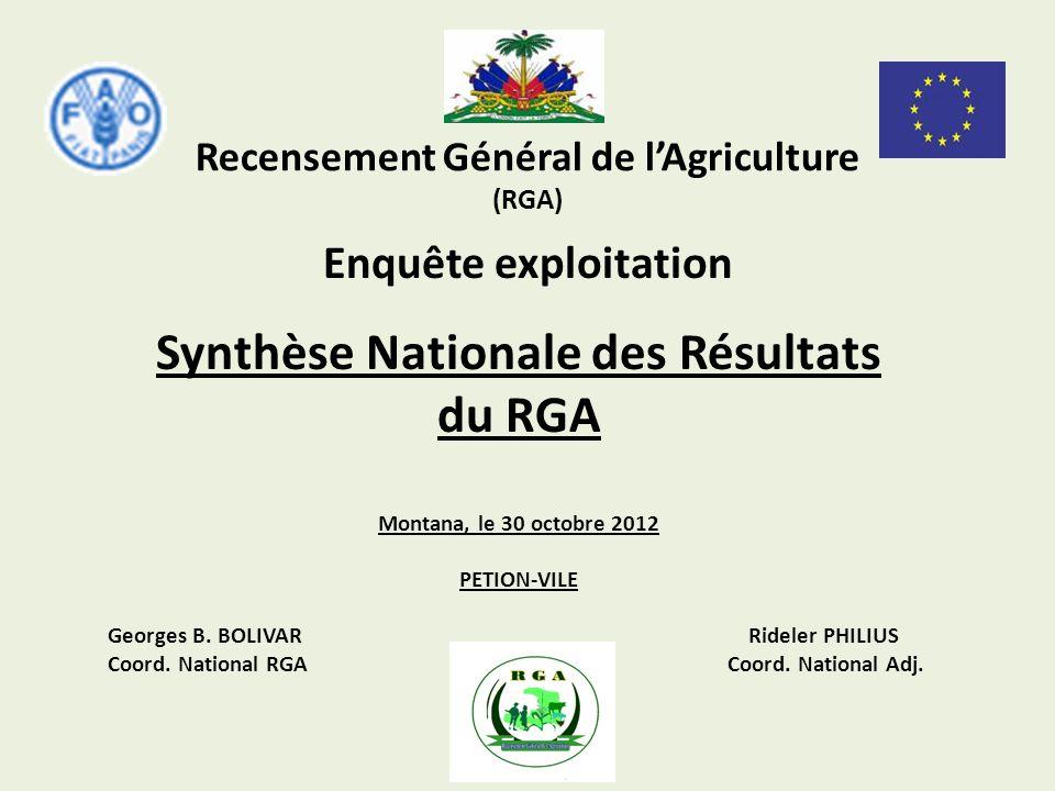 Recensement Général de l'Agriculture (RGA)