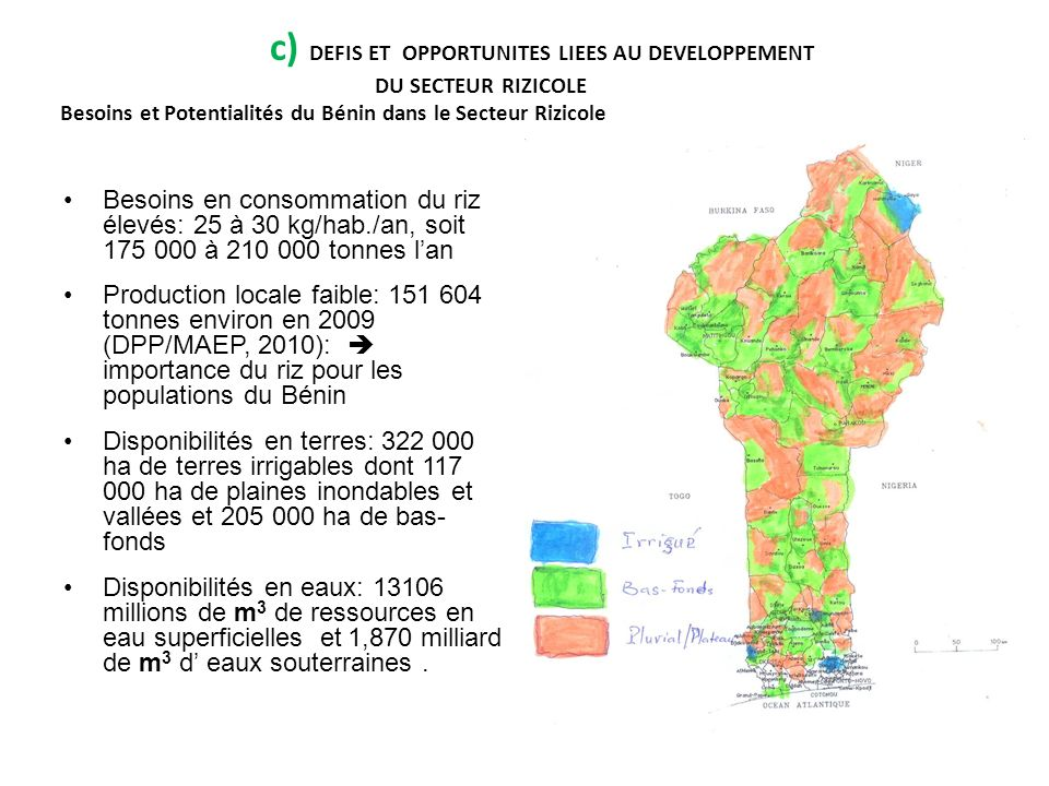 c) DEFIS ET OPPORTUNITES LIEES AU DEVELOPPEMENT