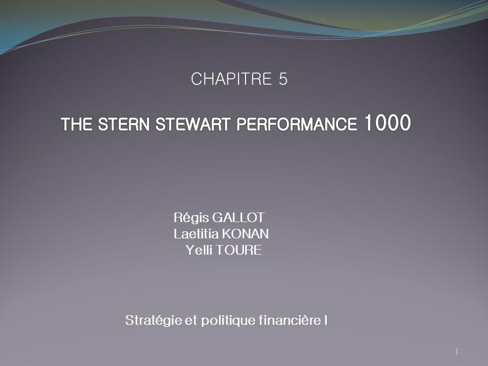 Stratégie et politique financière I
