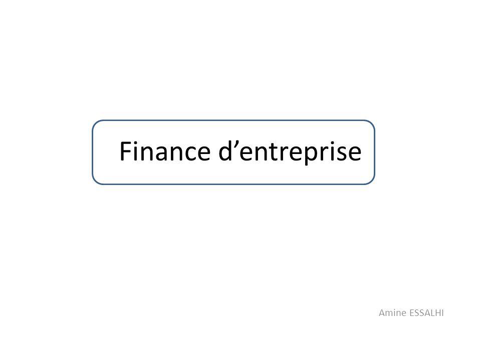Finance d'entreprise Amine ESSALHI