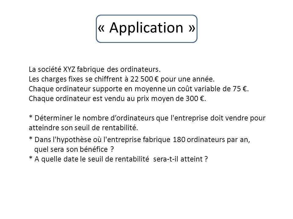 « Application »
