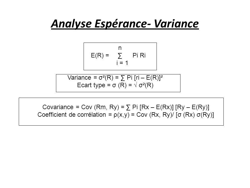 Analyse Espérance- Variance