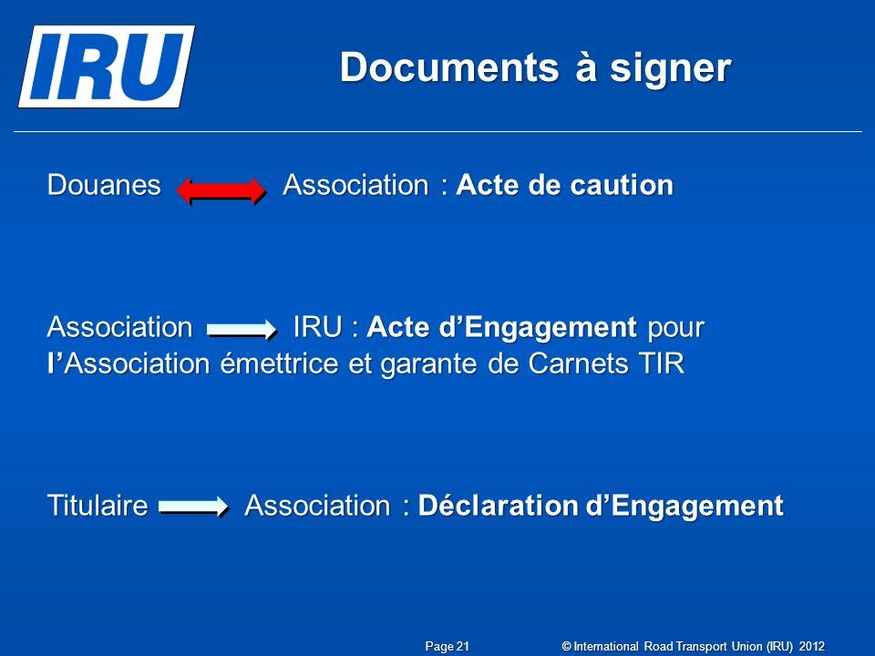 Documents à signer Douanes Association : Acte de caution