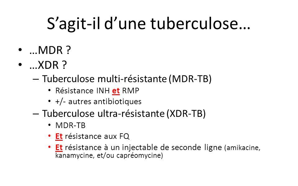 S'agit-il d'une tuberculose…