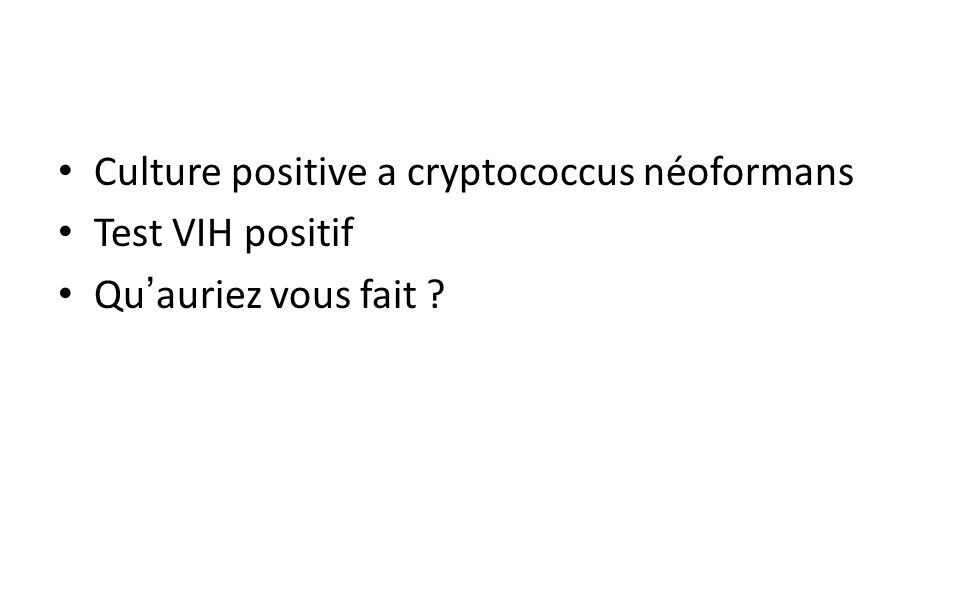 Culture positive a cryptococcus néoformans