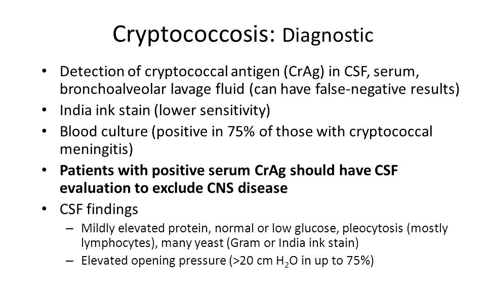 Cryptococcosis: Diagnostic