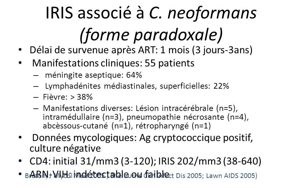 IRIS associé à C. neoformans (forme paradoxale)