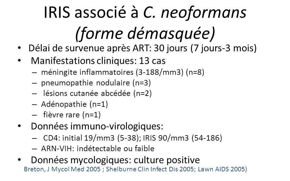 IRIS associé à C. neoformans (forme démasquée)