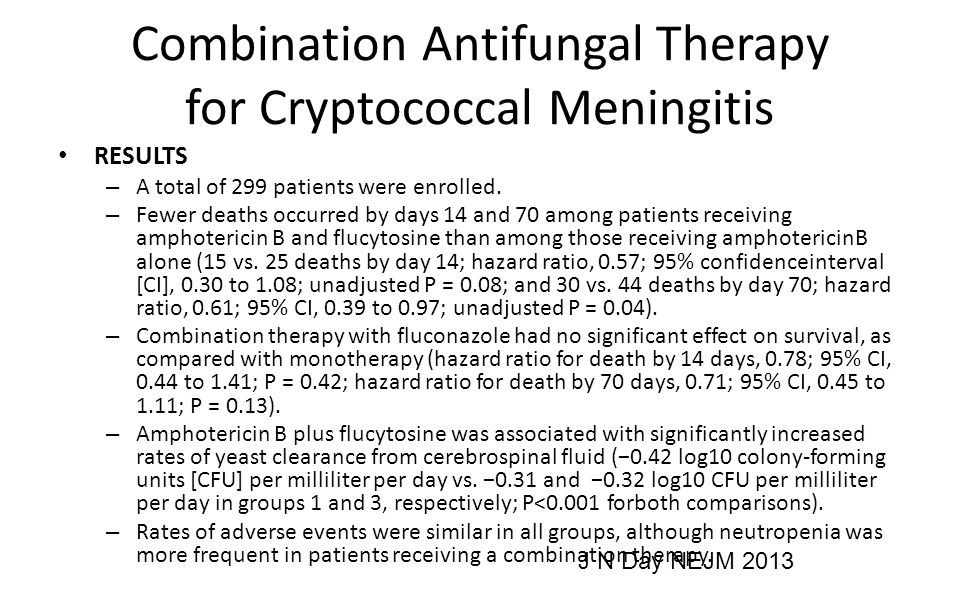 Combination Antifungal Therapy for Cryptococcal Meningitis