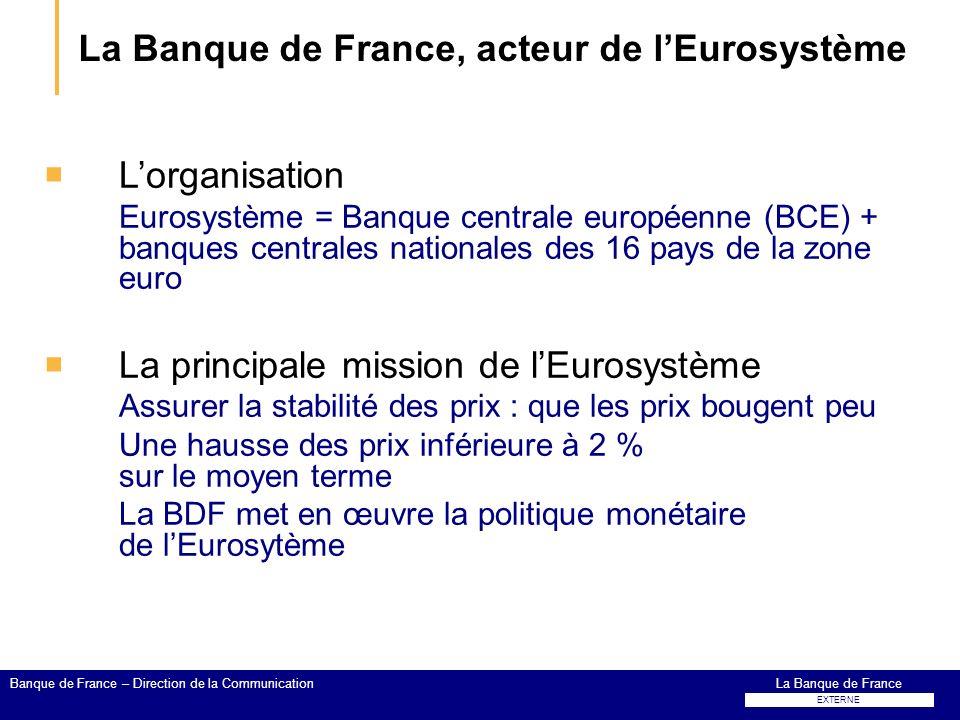 La Banque de France, acteur de l'Eurosystème