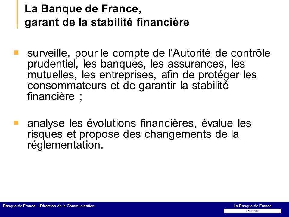 La Banque de France, garant de la stabilité financière