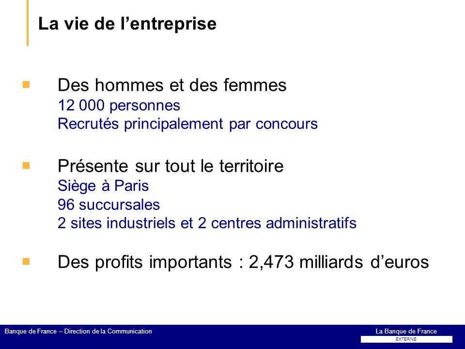 La vie de l'entreprise Des hommes et des femmes