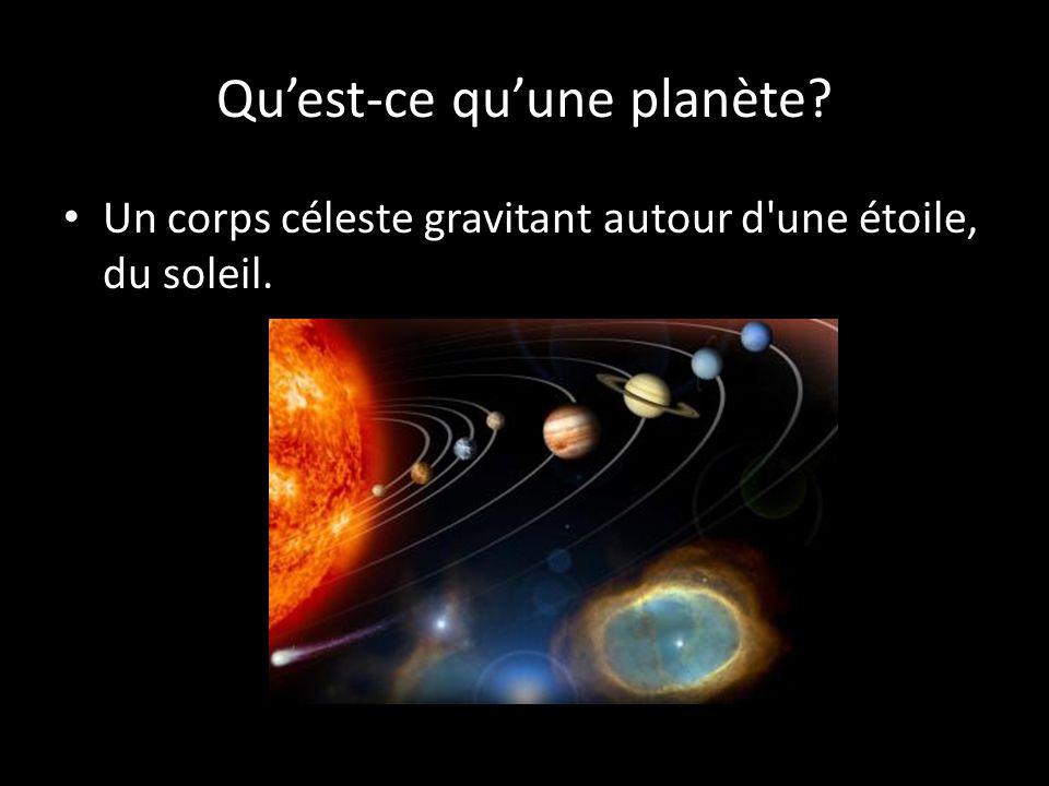 Qu'est-ce qu'une planète