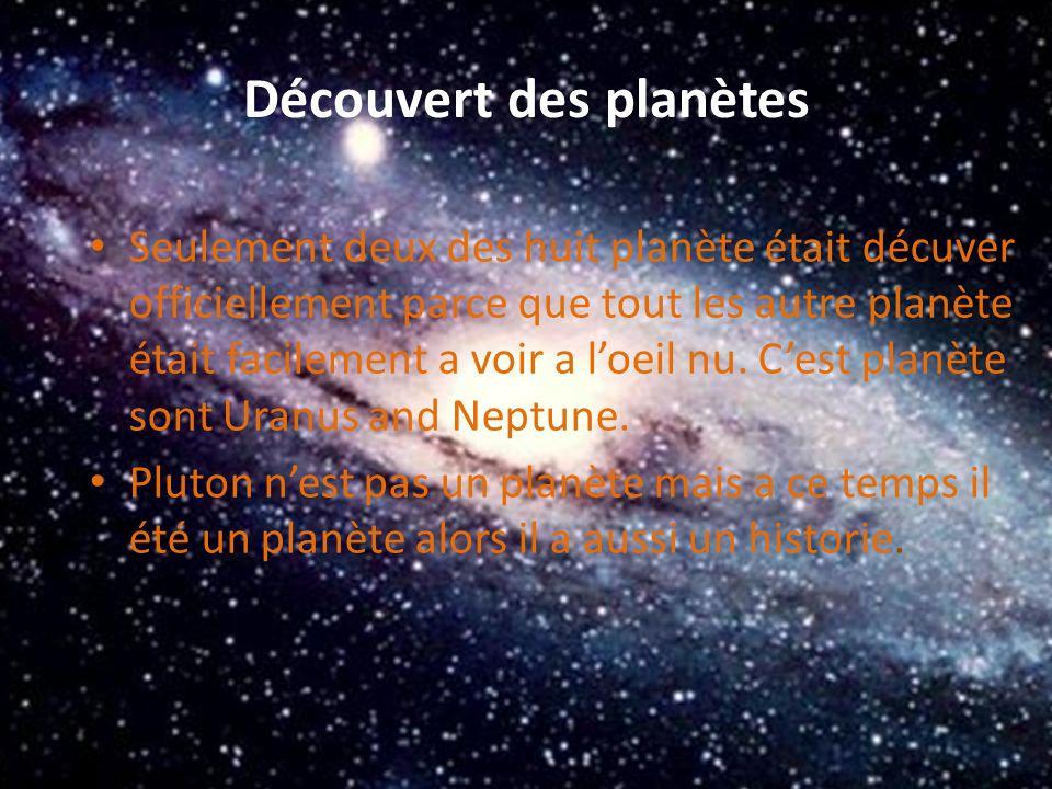 Découvert des planètes