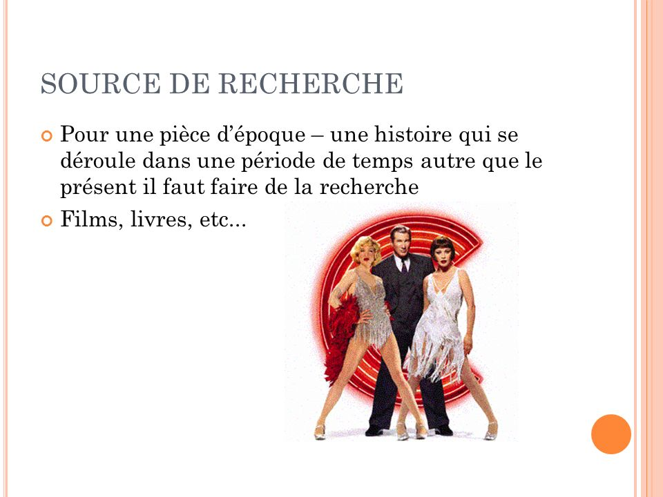 SOURCE DE RECHERCHE