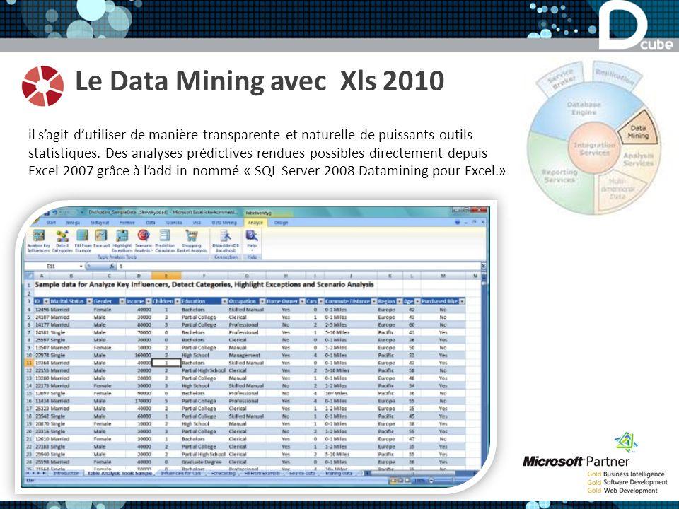 Le Data Mining avec Xls 2010