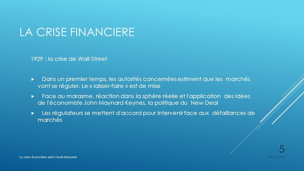 La crise financiere 1929 : la crise de Wall Street