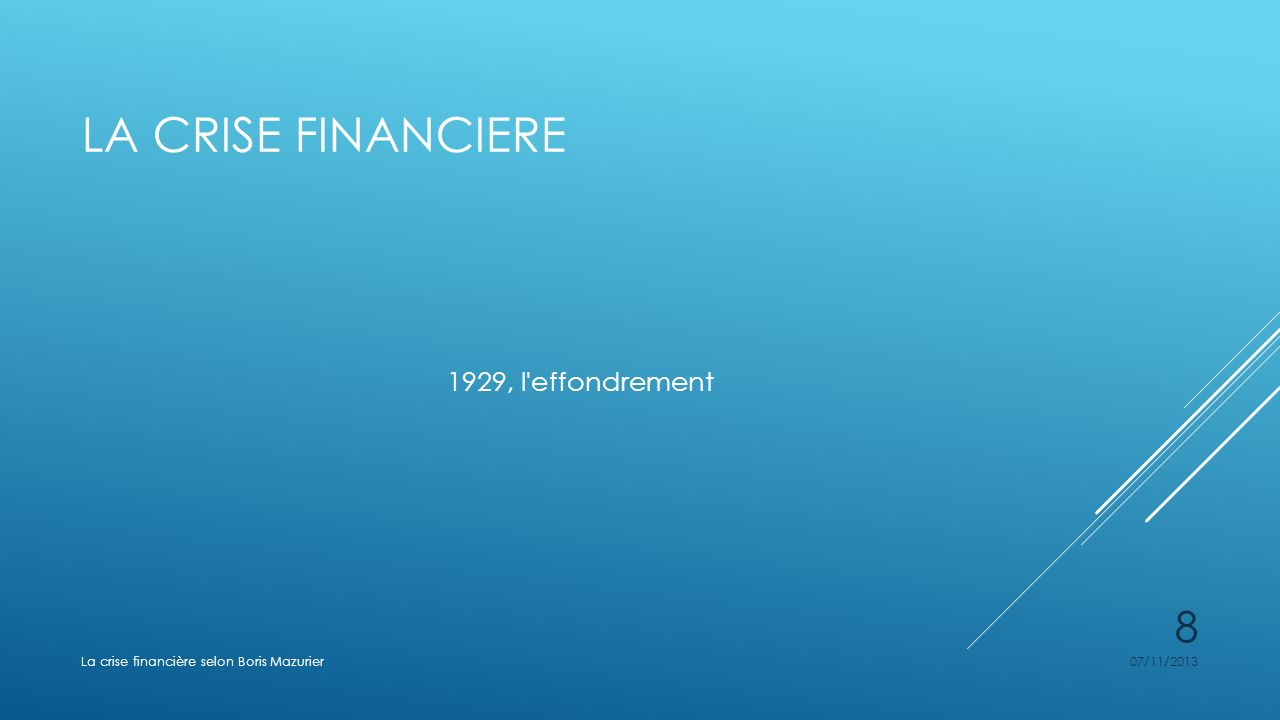 La crise financiere 1929, l effondrement
