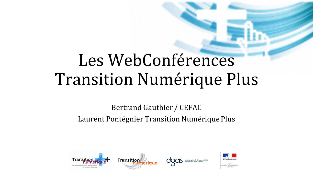 Les WebConférences Transition Numérique Plus