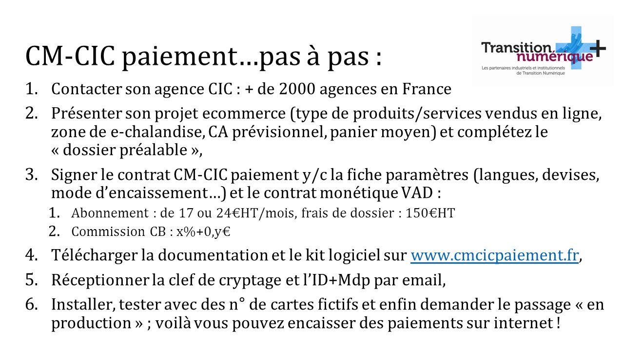 CM-CIC paiement…pas à pas :