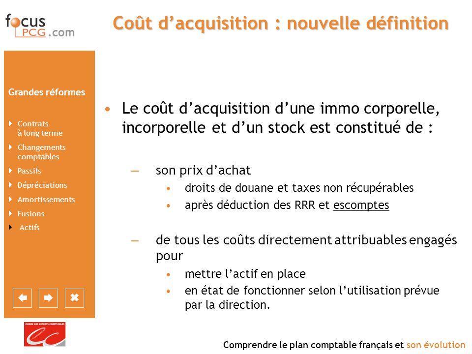Coût d'acquisition : nouvelle définition