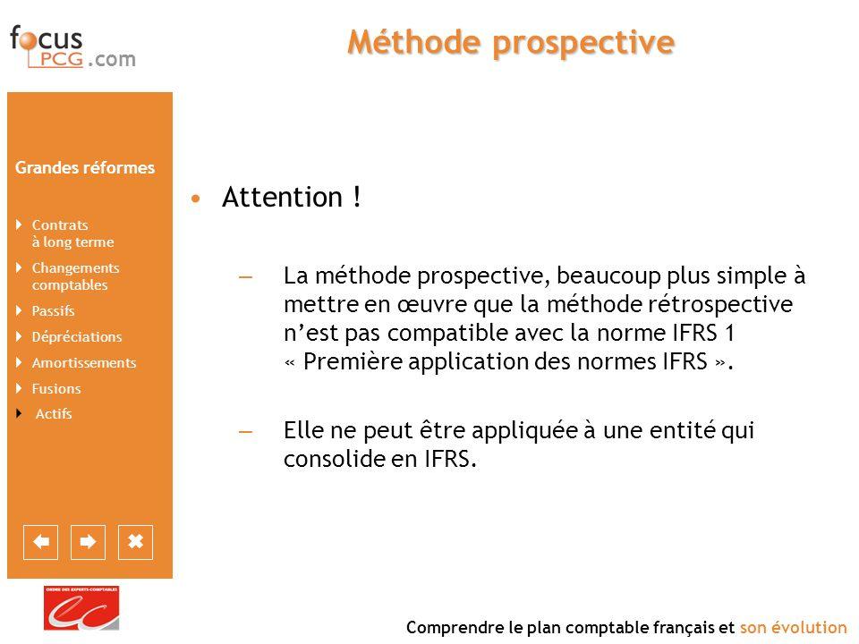 Méthode prospective Attention !