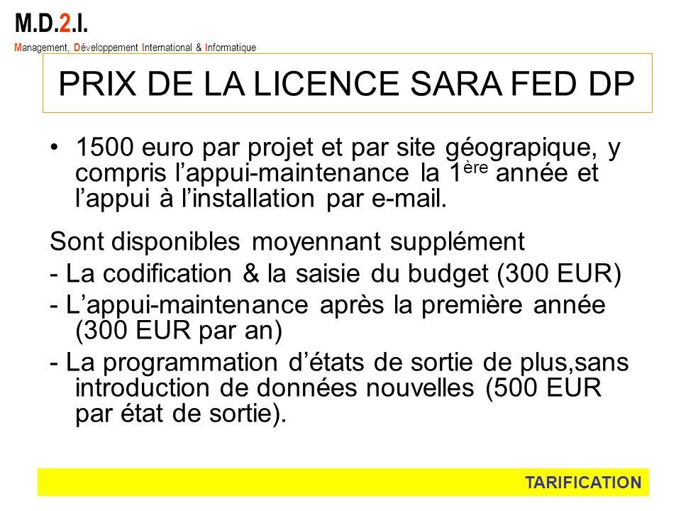 PRIX DE LA LICENCE SARA FED DP
