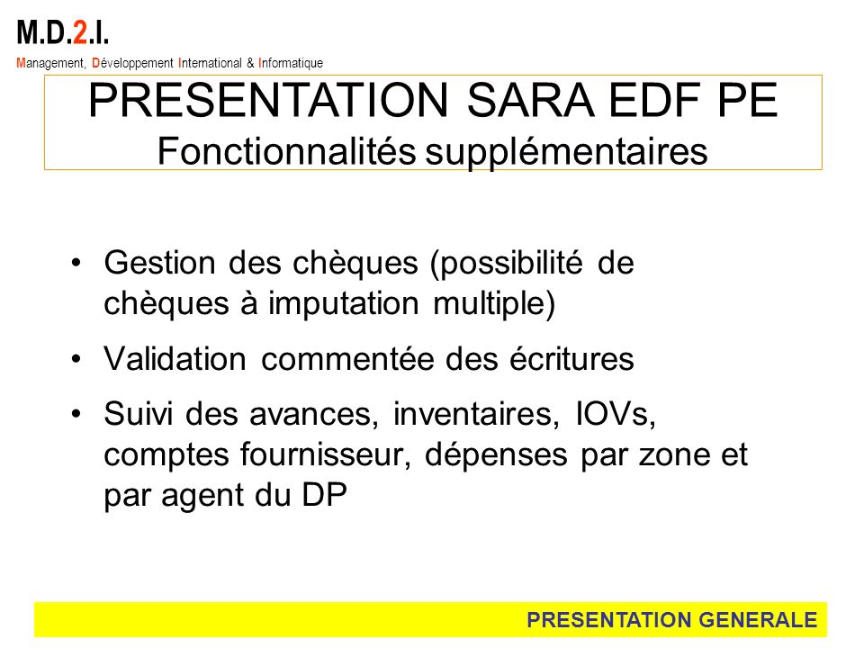 PRESENTATION SARA EDF PE