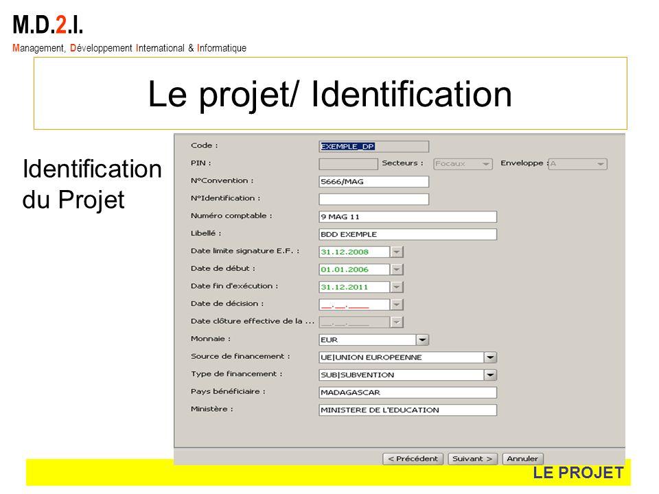 Le projet/ Identification