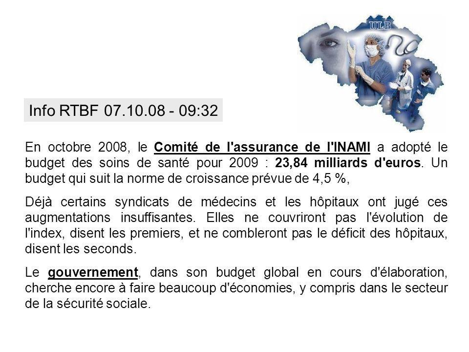 Info RTBF 07.10.08 - 09:32