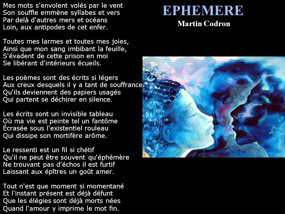 EPHEMERE Martin Codron