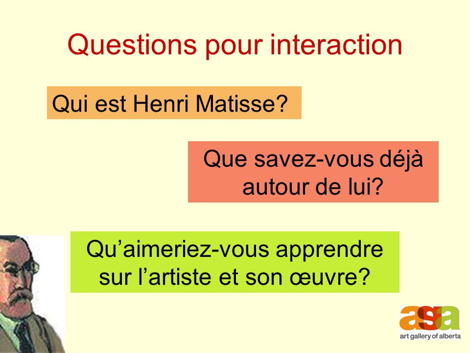 Questions pour interaction