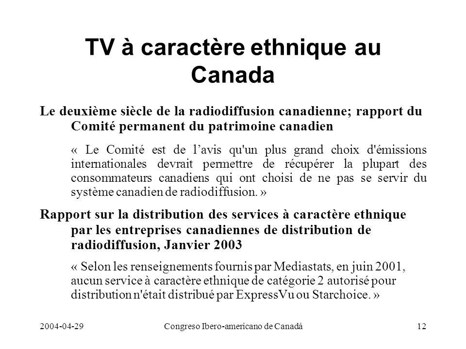 TV à caractère ethnique au Canada