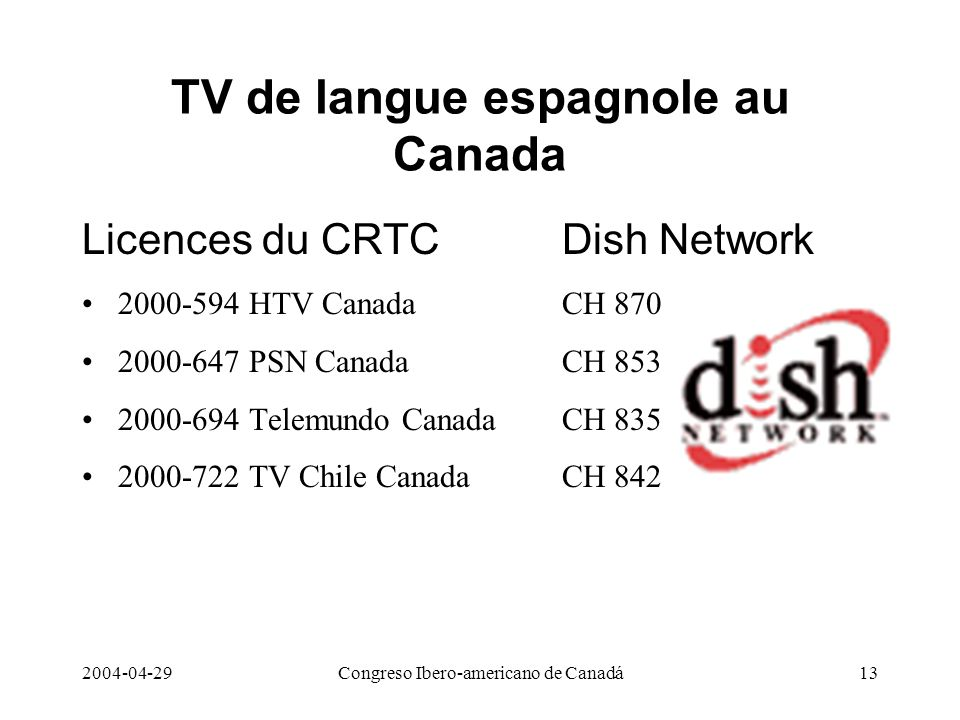 TV de langue espagnole au Canada