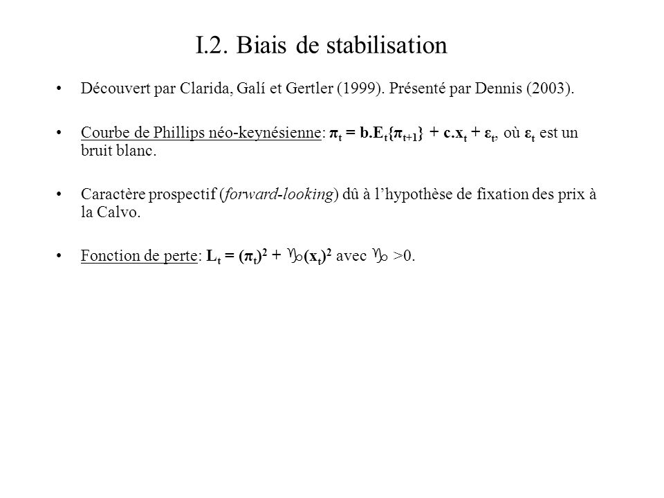 I.2. Biais de stabilisation