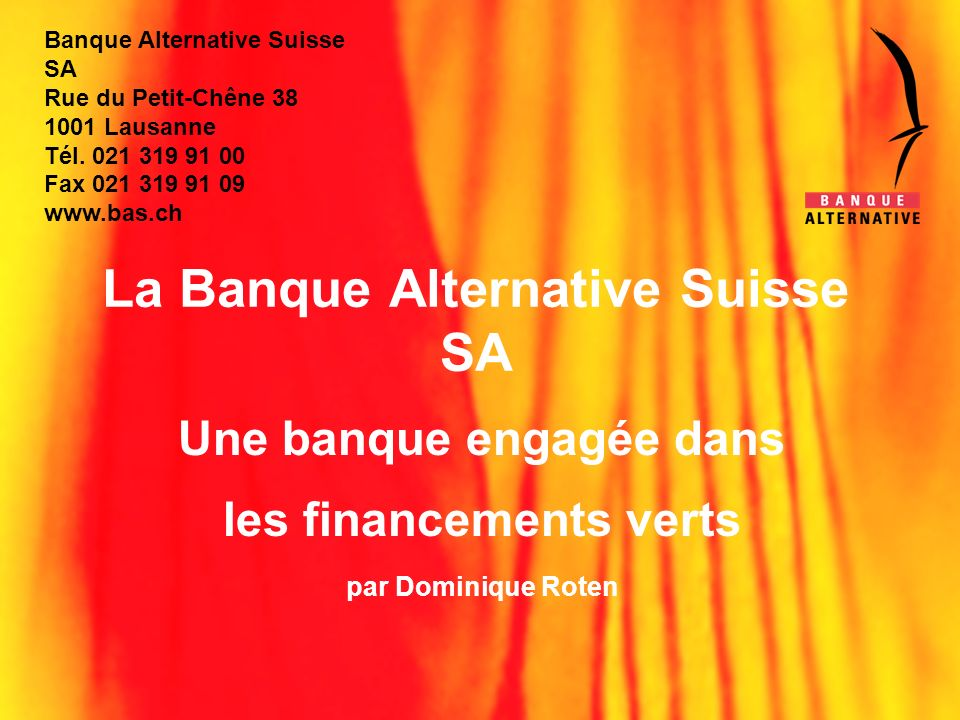La Banque Alternative Suisse SA