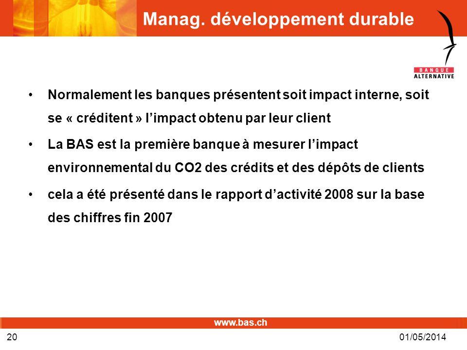 Manag. développement durable
