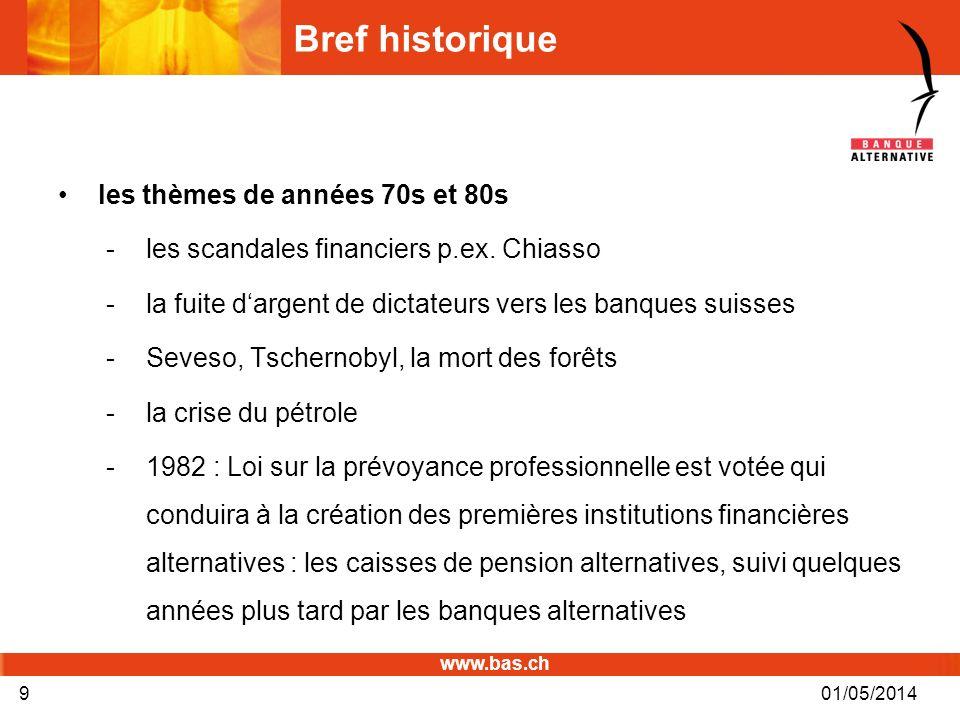 Bref historique les thèmes de années 70s et 80s