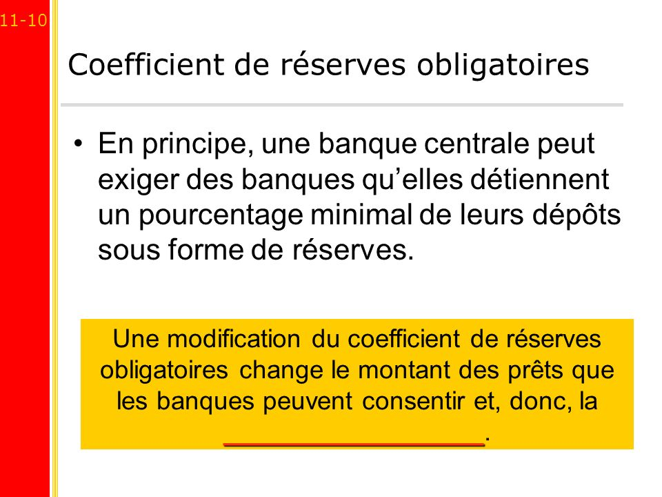 Coefficient de réserves obligatoires