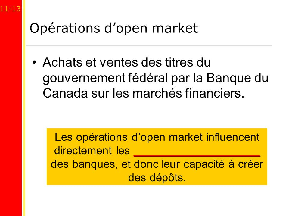 Opérations d'open market