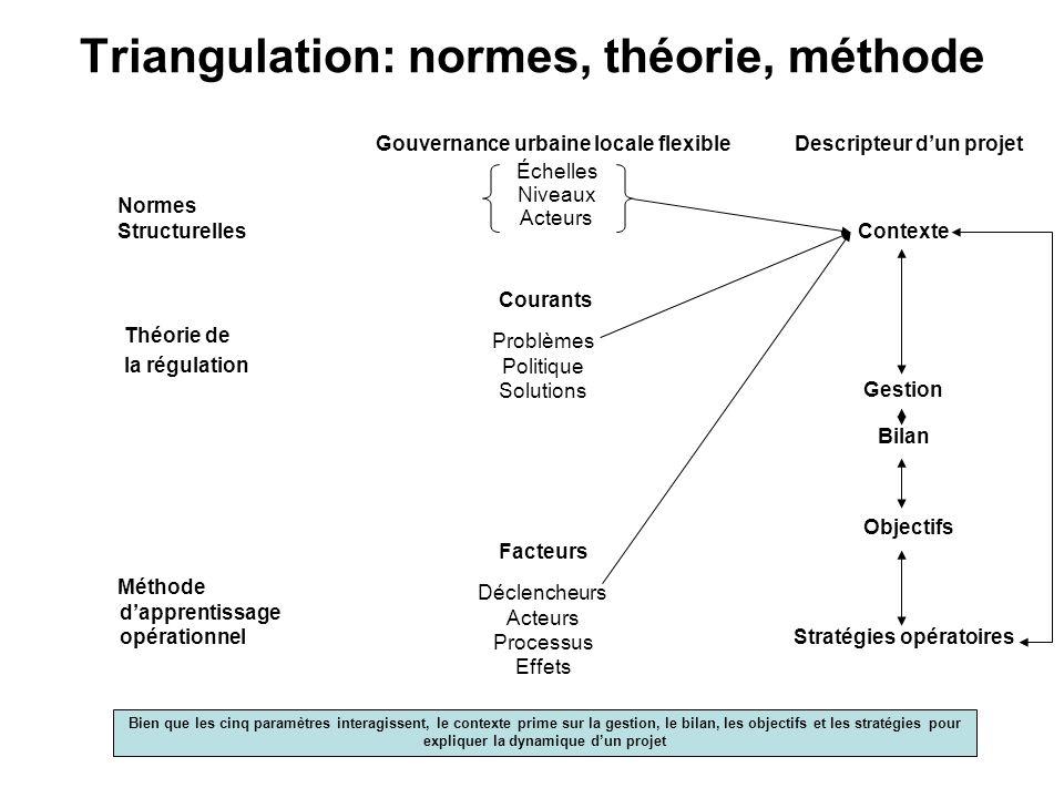 Triangulation: normes, théorie, méthode